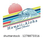 vintage hawaii theme text with... | Shutterstock .eps vector #1278873316
