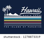 vintage hawaii theme text with... | Shutterstock .eps vector #1278873319