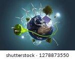 green energy world  3d...   Shutterstock . vector #1278873550