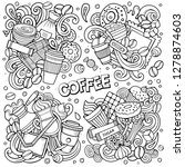line art vector hand drawn... | Shutterstock .eps vector #1278874603
