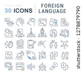set of vector line icons of... | Shutterstock .eps vector #1278879790