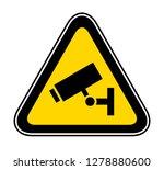 triangular yellow warning... | Shutterstock .eps vector #1278880600