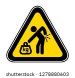 triangular yellow warning... | Shutterstock .eps vector #1278880603