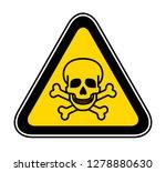 triangular yellow warning... | Shutterstock .eps vector #1278880630