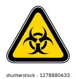 triangular yellow warning... | Shutterstock .eps vector #1278880633
