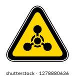 triangular yellow warning... | Shutterstock .eps vector #1278880636