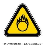 triangular yellow warning... | Shutterstock .eps vector #1278880639