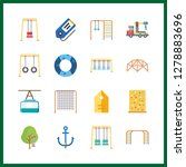 16 rope icon. vector... | Shutterstock .eps vector #1278883696