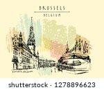 brussels  belgium. grand place... | Shutterstock .eps vector #1278896623