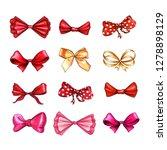 bow hand drawn raster... | Shutterstock . vector #1278898129