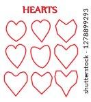 heart shape. heart vector. hand ... | Shutterstock .eps vector #1278899293