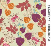 decorative floral seamless... | Shutterstock .eps vector #127889963