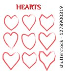 heart shape. heart vector. hand ... | Shutterstock .eps vector #1278900319