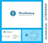 globe  logo design with tagline ... | Shutterstock .eps vector #1278904969