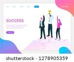 success of team  teamwork and... | Shutterstock .eps vector #1278905359