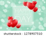 happy valentines day romantic... | Shutterstock .eps vector #1278907510