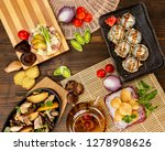 top view flatlay japanese style ... | Shutterstock . vector #1278908626