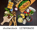 top view flatlay japanese style ... | Shutterstock . vector #1278908650