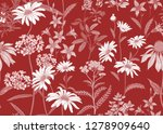 seamless summer pattern with... | Shutterstock .eps vector #1278909640