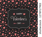valentine's day card with... | Shutterstock .eps vector #1278917983
