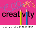 concept of creativity  with the ... | Shutterstock .eps vector #1278919753