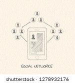 drawing pencil scheme of ... | Shutterstock .eps vector #1278932176
