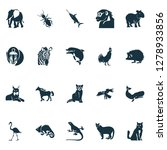 fauna icons set with eagle ... | Shutterstock . vector #1278933856