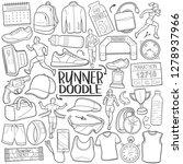 runner marathon sport... | Shutterstock .eps vector #1278937966