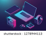 set of gadgets  isometric icon... | Shutterstock .eps vector #1278944113