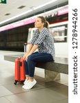 attractive girl traveler... | Shutterstock . vector #1278944266
