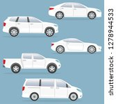 car or vehicle set. side view.... | Shutterstock .eps vector #1278944533
