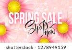 spring sale concept. summer... | Shutterstock .eps vector #1278949159