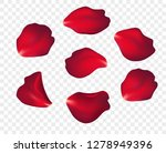 falling red rose petals... | Shutterstock .eps vector #1278949396