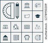 school icons set with school... | Shutterstock .eps vector #1278950209