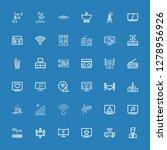 editable 36 antenna icons for... | Shutterstock .eps vector #1278956926