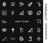 editable 22 knot icons for web... | Shutterstock .eps vector #1278958843