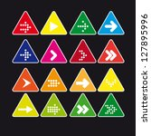 set  3 of triangular icon with... | Shutterstock .eps vector #127895996