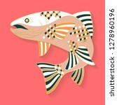 fish label design. abstract... | Shutterstock .eps vector #1278960196