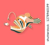 fish label design. abstract... | Shutterstock .eps vector #1278960199