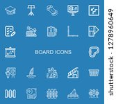 editable 22 board icons for web ... | Shutterstock .eps vector #1278960649