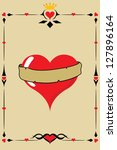 heart design with with vintage... | Shutterstock .eps vector #127896164