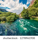 sunny morning scene of krka... | Shutterstock . vector #1278961930