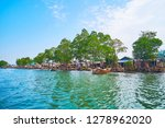 the boat trip along the line of ... | Shutterstock . vector #1278962020