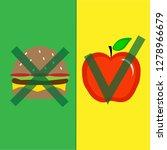 do not eat bad food.concept of...   Shutterstock .eps vector #1278966679