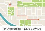 city map navigation. gps... | Shutterstock .eps vector #1278969406