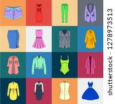 women's clothing cartoon icons... | Shutterstock .eps vector #1278973513