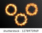 set of fire circle. ring of... | Shutterstock .eps vector #1278973969