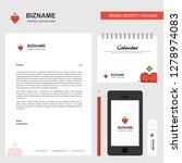 heart rate business letterhead  ...   Shutterstock .eps vector #1278974083
