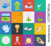 golf and attributes cartoon... | Shutterstock .eps vector #1278978016