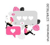 online dating. virtual... | Shutterstock .eps vector #1278978130